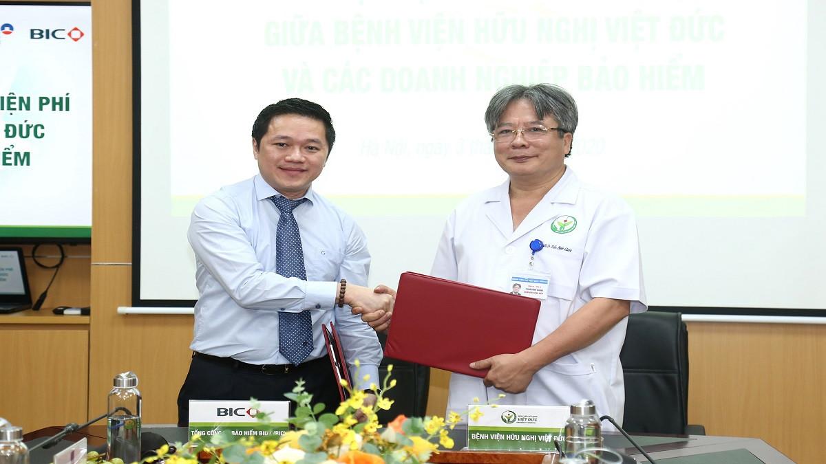 BIC và Bệnh viện Hữu nghị Việt Đức hợp tác triển khai dịch vụ bảo lãnh viện phí