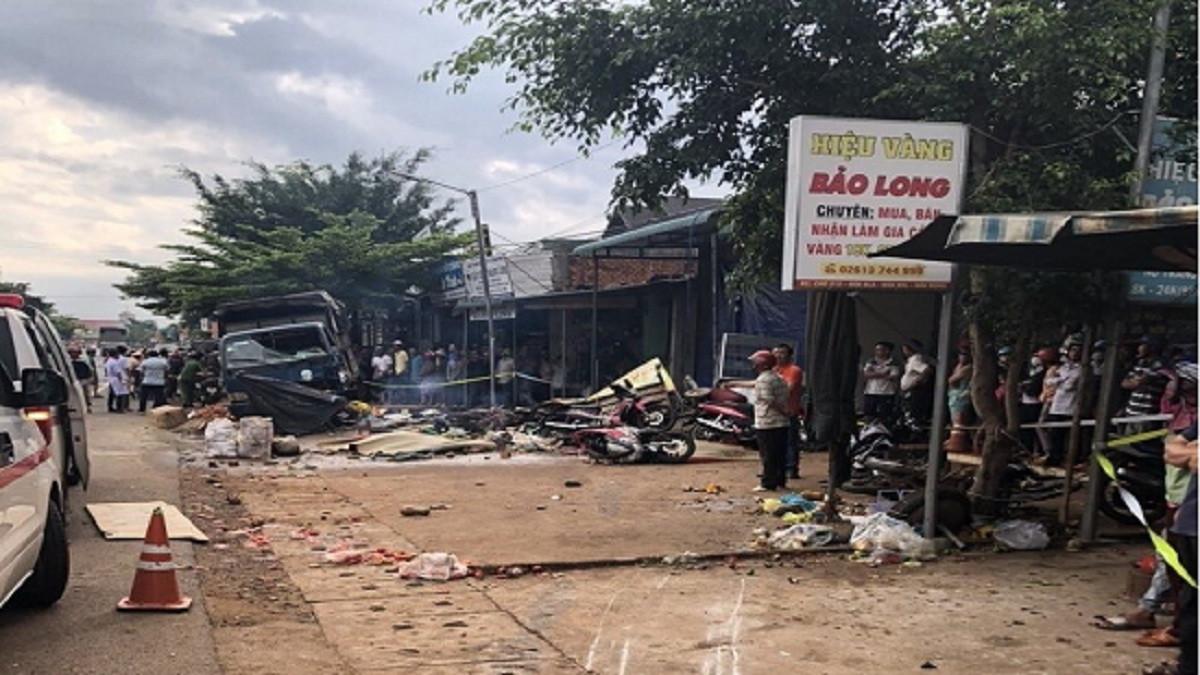 Tài xế xe tải lao vào chợ làm 5 người chết âm tính với chất ma túy