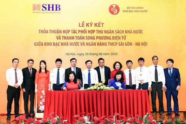 Kho bạc nhà nước và SHB triển khai điện tử hóa các giao dịch thu NSNN và thanh toán song phương