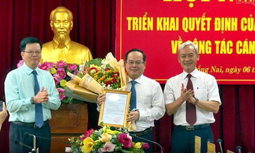 Ban Bí thư điều động, chỉ định chức vụ Phó Bí thư Tỉnh ủy Đồng Nai