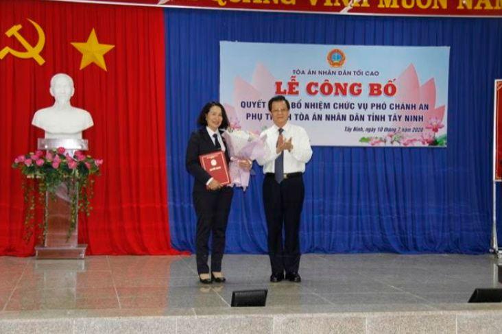 Bổ nhiệm Phó Chánh án phụ trách TAND tỉnh Tây Ninh