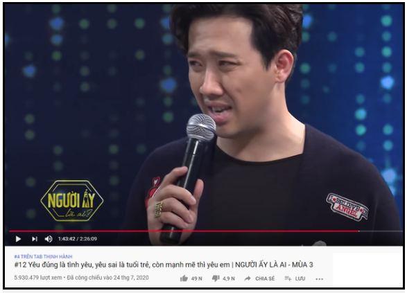 Trấn Thành sở hữu 6 video lọt top trending YouTube