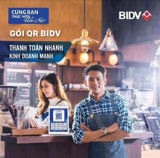 Nhiều ưu đãi phí giao dịch khi đăng ký sử dụng gói QR BIDV