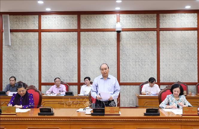 Bộ Chính trị tiếp tục làm việc với các đảng bộ trực thuộc Trung ương về chuẩn bị đại hội