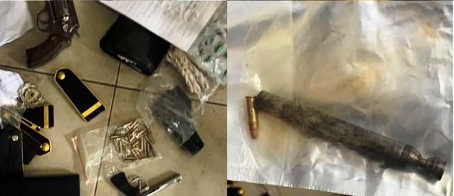 Phát hiện bảo vệ bệnh viện tàng trữ súng đạn, hung khí nguy hiểm
