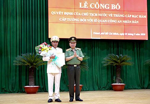 Chủ tịch nước quyết định phong hàm cấp tướng cho Phó Giám đốc Công an TP Hồ Chí Minh