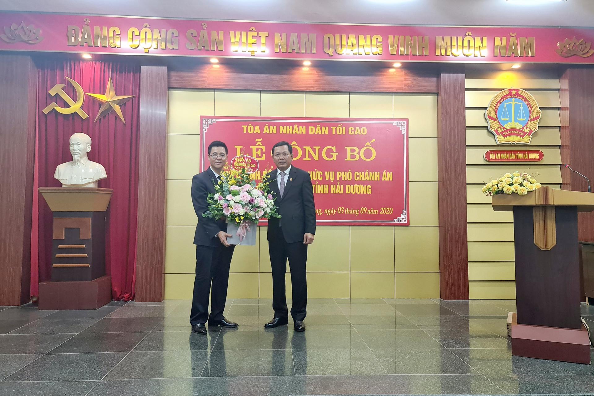 TANDTC điều động, bổ nhiệm Phó Chánh án TAND tỉnh Hải Dương