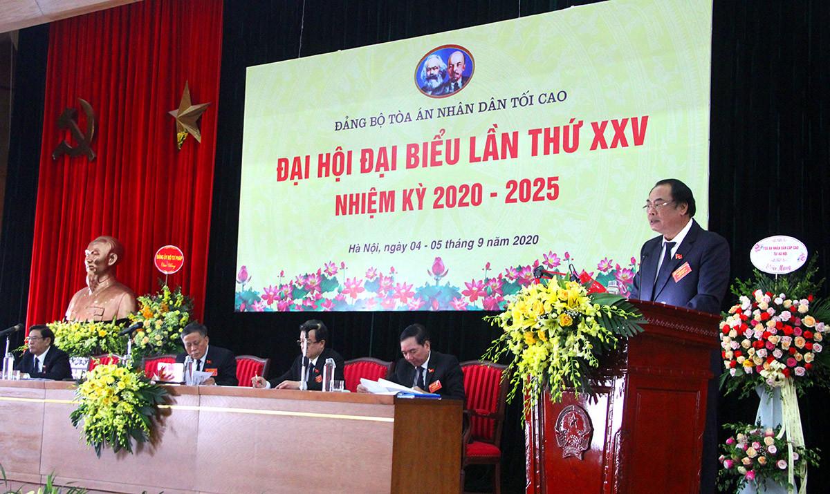 Đại hội Đảng bộ TANDTC nhiệm kỳ 2020-2025: Mỗi đảng viên phải nỗ lực hơn nữa để bảo vệ công lý, công bằng xã hội