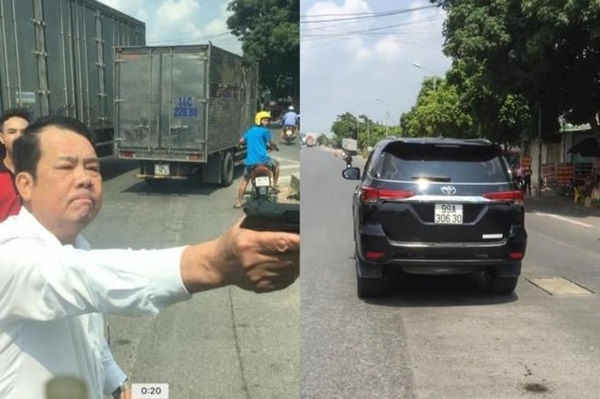 Bắt khẩn cấp Giám đốc rút súng đe dọa tài xế xe tải ở Bắc Ninh