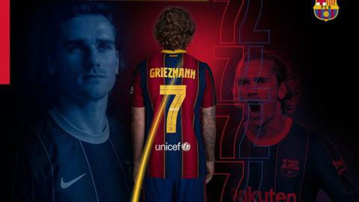 Griezmann nhận số áo mới tại Barcelona