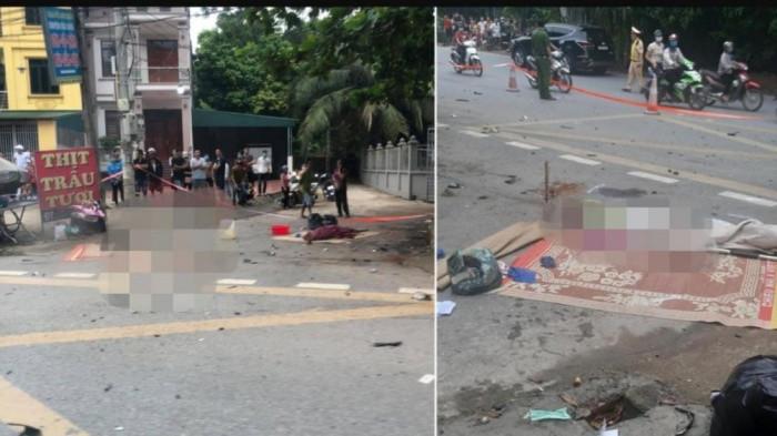 Xe 7 chỗ va chạm với xe máy, 3 người tử vong tại chỗ