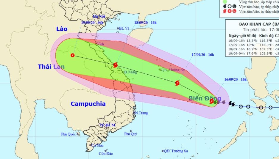 Bão số 5 giật cấp 14, gây gió mạnh và lốc xoáy trên Biển Đông