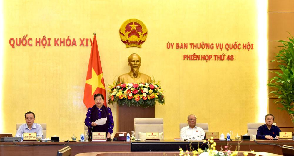 Bế mạc Phiên họp thứ 48 của Ủy ban Thường vụ Quốc hội