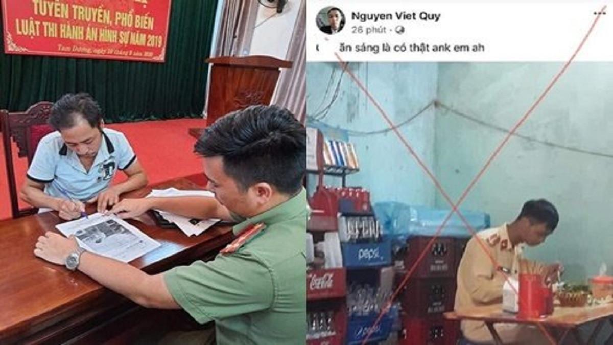 Triệu tập người đàn ông ở Vĩnh Phúc đăng ảnh xúc phạm CSGT