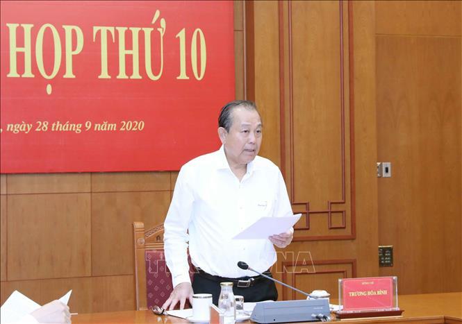 Ban Chỉ đạo Cải cách tư pháp Trung ương họp Phiên thứ 10