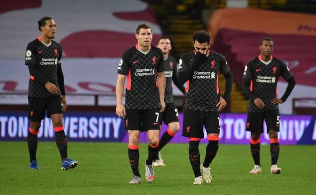 Liverpool với trận thua tồi tệ chưa từng có trong lịch sử Premier League