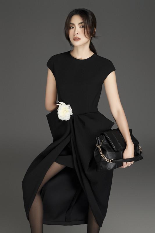 Tăng Thanh Hà cuốn hút với loạt trang phục sắc đen sang trọng