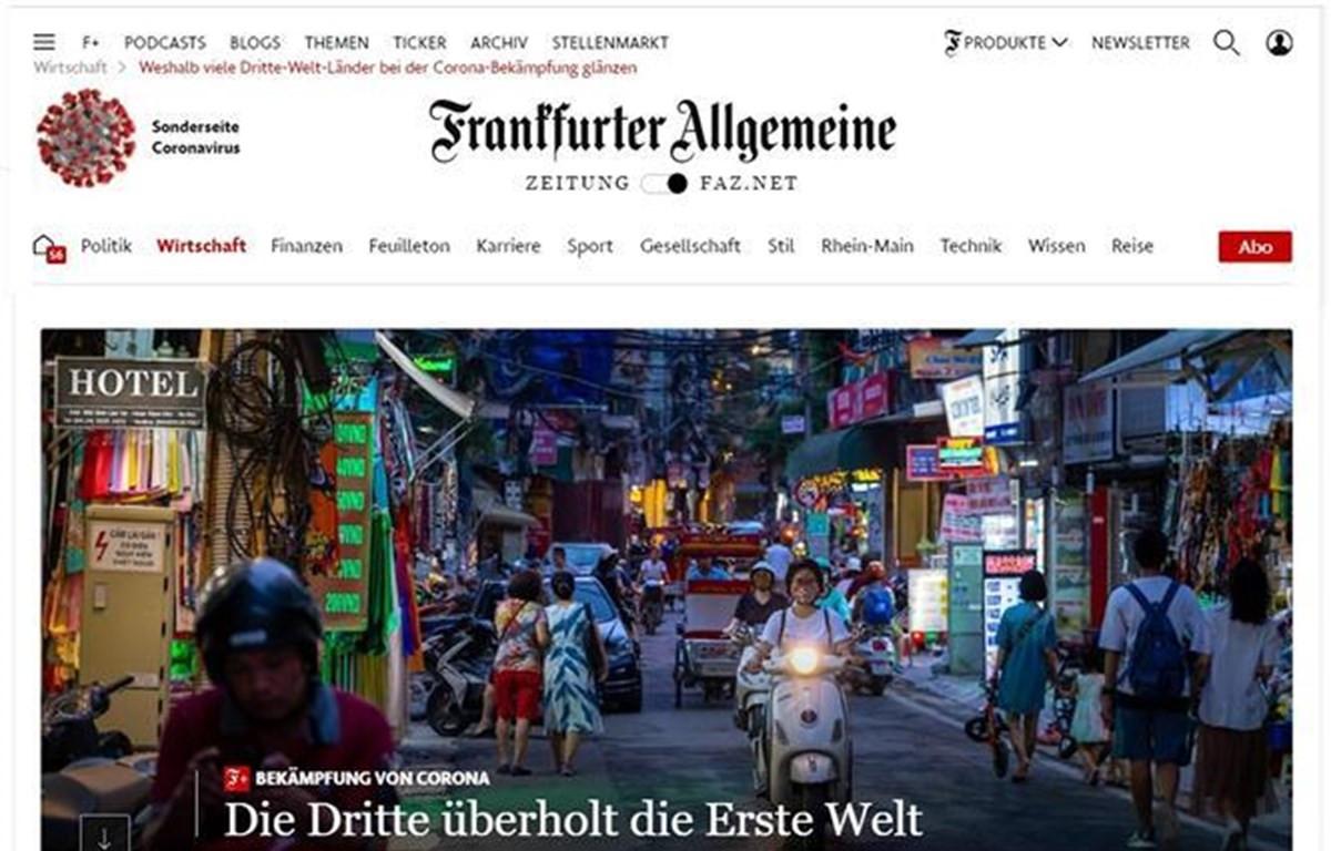 Báo Đức ca ngợi mô hình chống dịch Covid-19 của Việt Nam