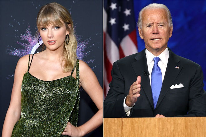 Taylor Swift công khai ủng hộ Joe Biden làm Tổng thống