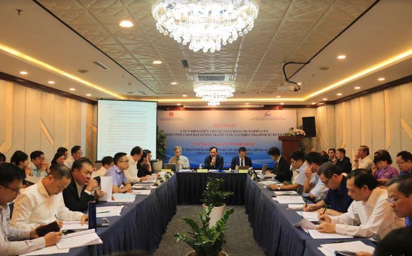 TANDTC tổ chức Hội thảo góp ý cho dự thảo Báo cáo nghiên cứu nâng cao chất lượng tranh tụng tại phiên tòa hình sự sơ thẩm