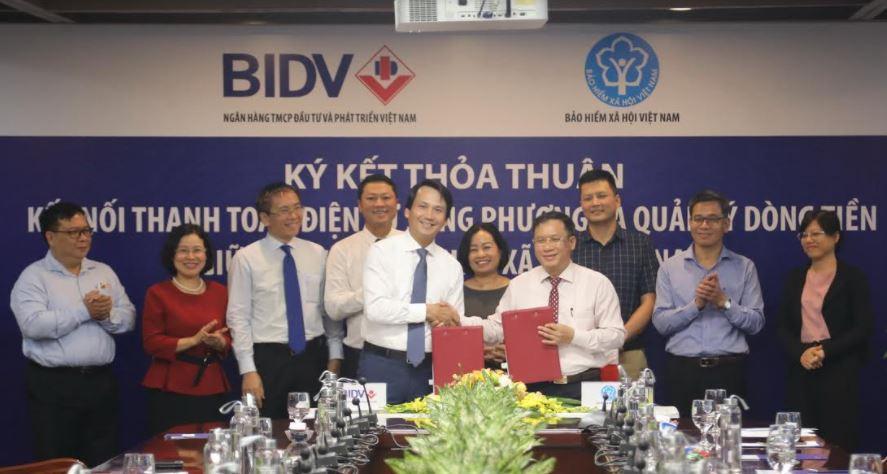 BIDV và Bảo hiểm Xã hội Việt Nam ký kết thỏa thuận kết nối điện tử song phương và quản lý dòng tiền