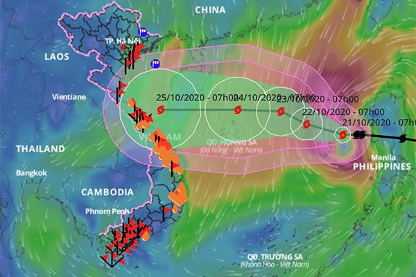 Bão số 8 mạnh nhất khi vào khu vực quần đảo Hoàng Sa, vùng ảnh hưởng rất rộng