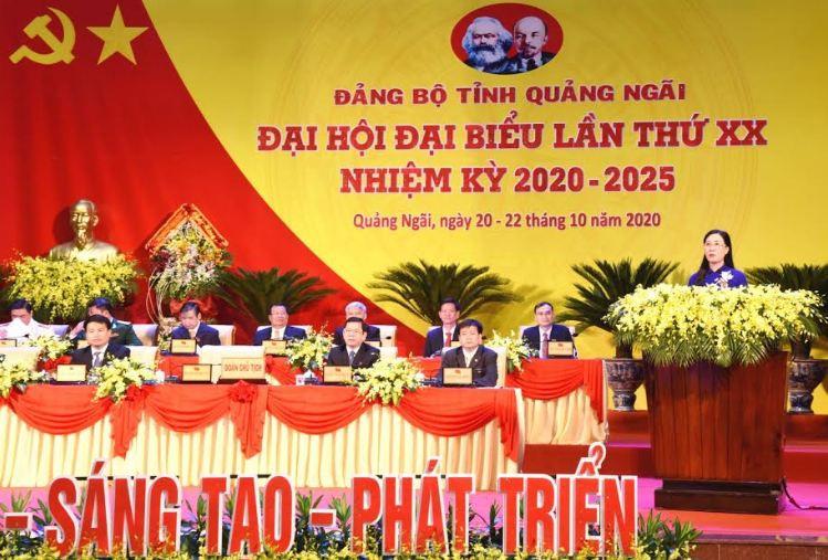 Khai mạc Đại hội đại biểu Đảng bộ tỉnh Quảng Ngãi lần thứ XX, nhiệm kỳ 2020 – 2025