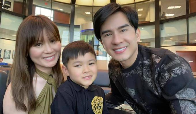 Đan Trường qua Mỹ thăm con trai hồi đầu tháng 7. Ảnh: Facebook Pham Dan Truong.