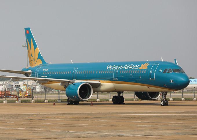 Máy bay đỗ tại sân bay Tân Sơn Nhất. Ảnh: Quỳnh Trần.