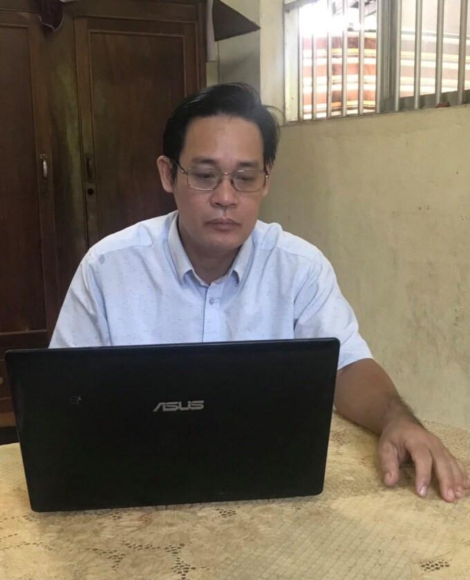Thầy giáo Lê Trần Ngọc Sơn. Ảnh: Nhân vật cung cấp
