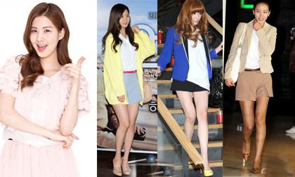 """""""Học lỏm"""" thời trang khoe chân thon dài của sao Hàn"""