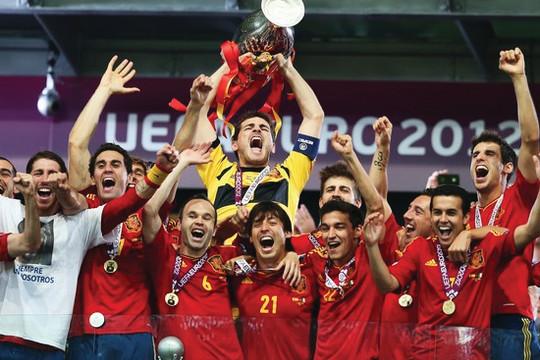 Chùm Ảnh + Video: Phút đăng quang của Tây Ban Nha