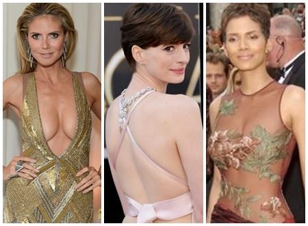 """Những bộ cánh """"hở"""" nhất trên thảm đỏ Oscar 2013"""