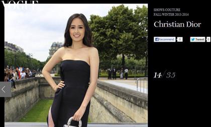 Mai Phương Thúy xuất hiện rạng rỡ trên tạp chí Vogue Pháp