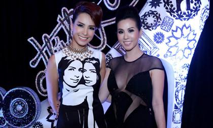 Hoa hậu Thu Hoài diện đầm khoét sâu táo bạo
