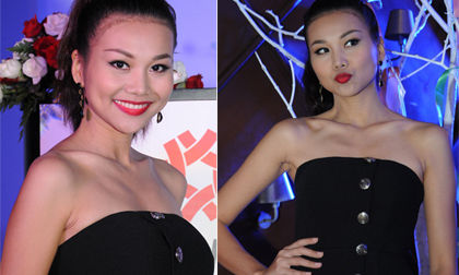Thanh Hằng diện váy đen gợi cảm nổi bật trên đất Đài Loan