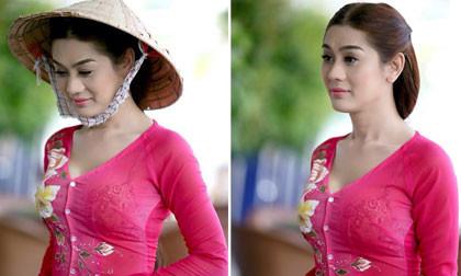 Khanh Chi Lâm diện áo bà ba xinh như mộng