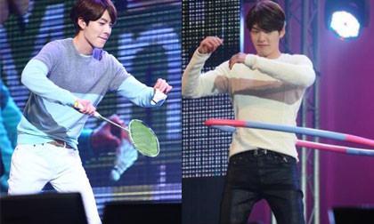 Kim Woo Bin trổ tài lắc vòng, đánh cầu lông trước 5.000 fans Thái