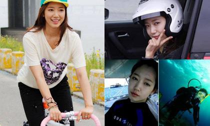 """Fans """"choáng"""" trước khả năng chơi cực nhiều môn thể thao của Park Shin Hye"""