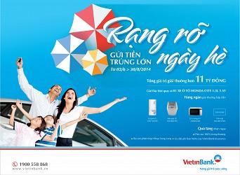 Cơ hôi trúng ôtô Honda City khi gửi tiền tại VietinBank