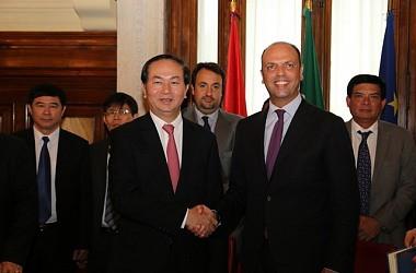Bộ trưởng Trần Đại Quang hội đàm với Bộ trưởng Bộ Nội vụ Cộng hòa Italia
