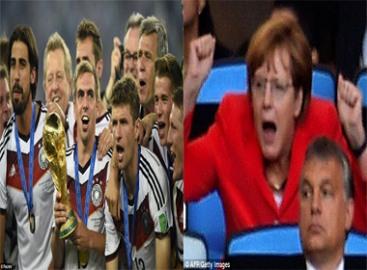 Chung kết world cup 2014: Nữ thủ tướng chia vui cùng tuyển Đức