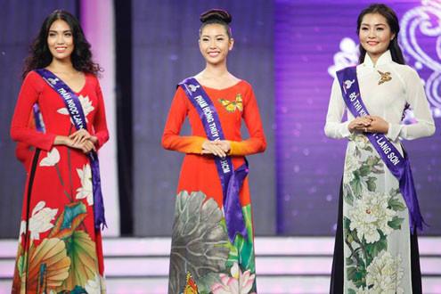 Dịu dàng áo dài Việt trên sân khấu Hoa khôi Áo dài- Đường tới vương miện
