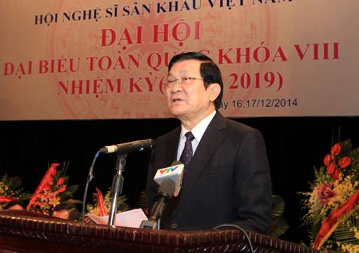 Chủ tịch nước dự khai mạc Đại hội Hội Nghệ sĩ sân khấu Việt Nam lần VIII