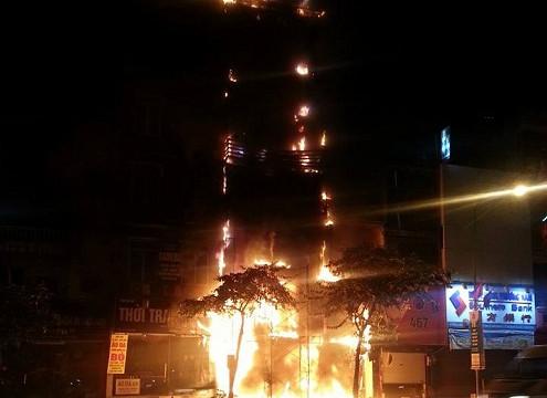 Hà Nội: Cháy cơ sở thẩm mỹ viện trên phố Kim Mã