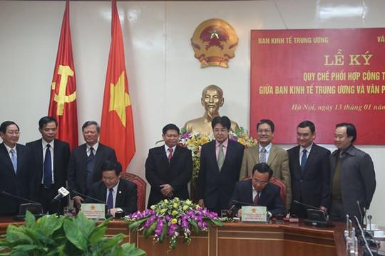 Ban Kinh tế Trung ương và Văn phòng Chính phủ tăng cường phối hợp công tác