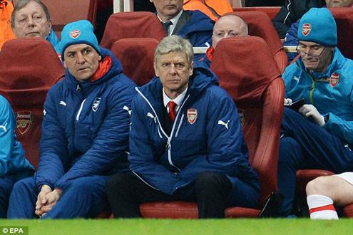 """HLV Wenger: """"Đêm kinh hoàng của Arsenal"""""""