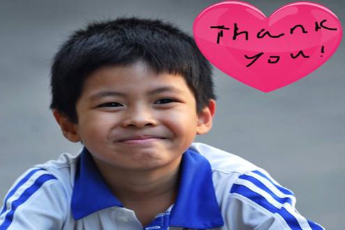 Trần Bờm bảnh trai trong sinh nhật 7 tuổi