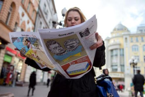 """Nước Nga ra mắt tạp chí châm biếm """"chế giễu Charlie Hebdo"""""""