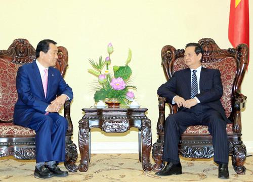 Thủ tướng tiếp Nghị sỹ Quốc hội Hàn Quốc Ahn Sang Soo